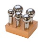 5 Piece Dapping Punch Set with Stand