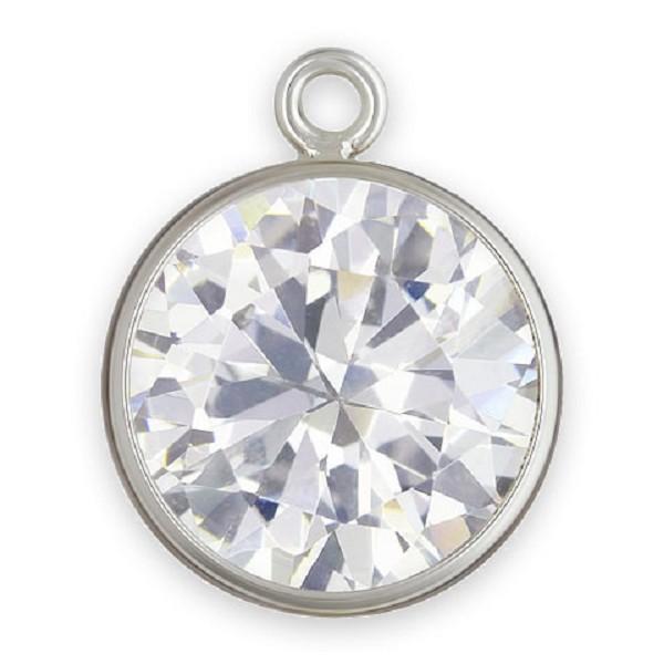 8mm cubic zirconia in sterling silver bezel drop metal jewelry 8mm cubic zirconia in sterling silver bezel drop aloadofball Gallery
