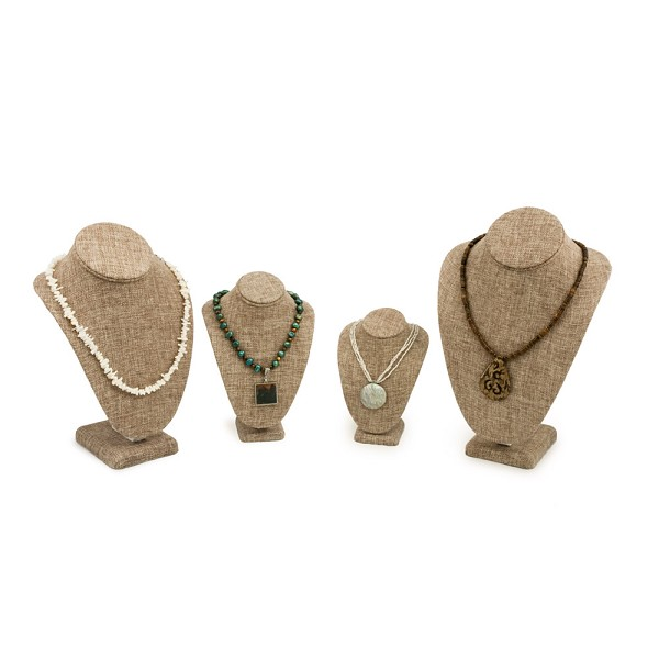 Burlap Necklace Display Bust Kit (4-Piece)
