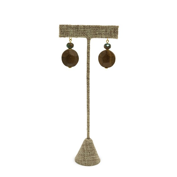 Burlap Earring T Bar Display 6-3/4""