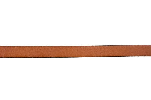 10mm Burnt Orange Flat Leather Strap (Priced Per Inch)