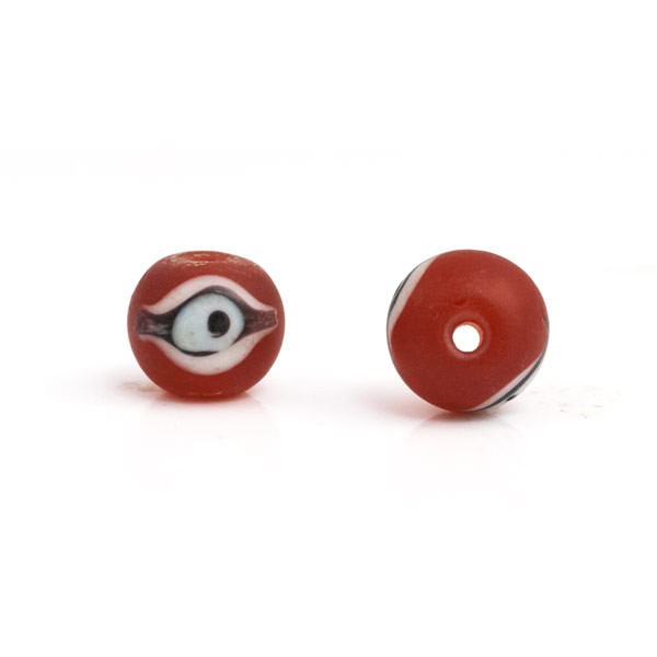 Frost Orange Glass Eye Bead 12mm (1-Pc)