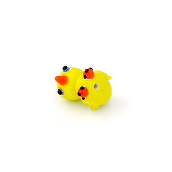20mm Yellow (Rubber) Ducky Lampwork Glass Bead (1-Pc)
