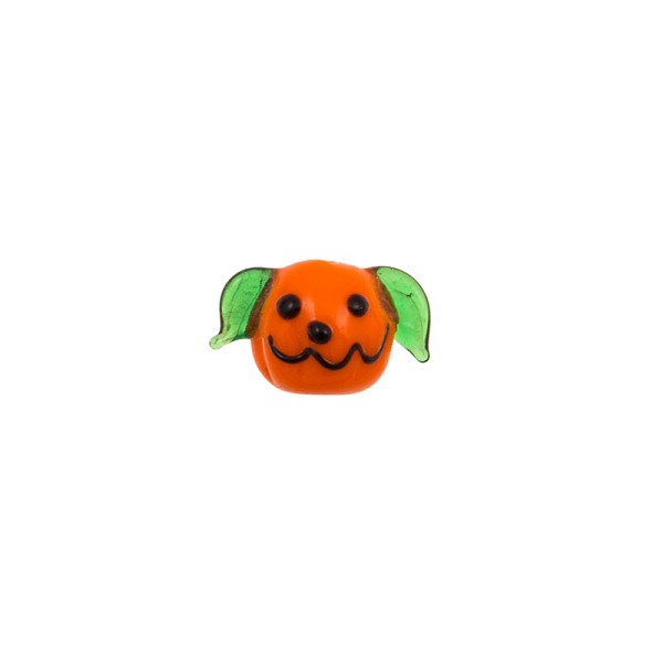 12-13mm Jack-O-Lantern Lampwork Glass Bead (1-Pc)