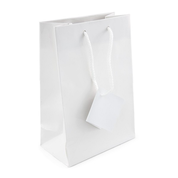 Glossy White 4x6 Tote Gift Bag (20-Pcs)