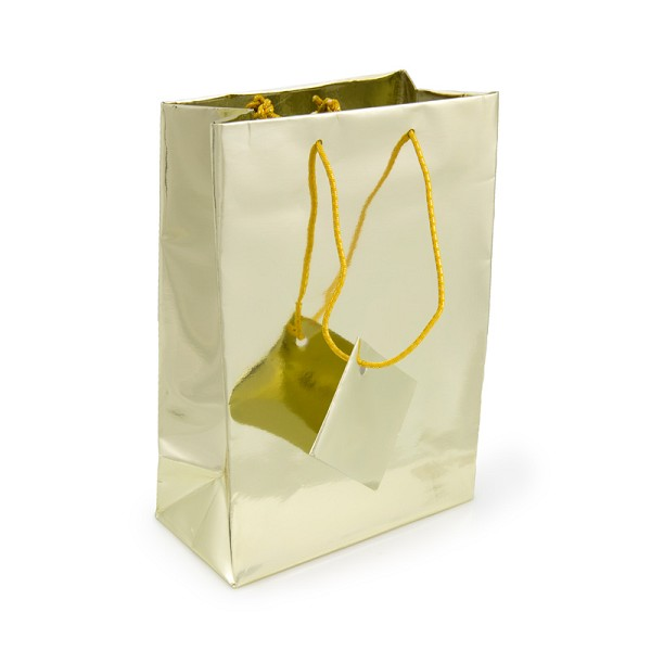 Metallic Gold 4x6 Tote Gift Bag (20-Pcs)