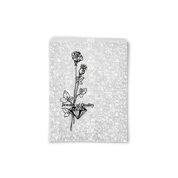 Jewelry Gift Bags Silver Print 4x6 (100-Pcs)