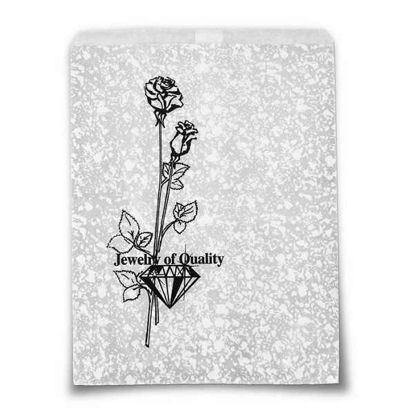 Jewelry Gift Bags Silver Print 8x11 (100-Pcs)