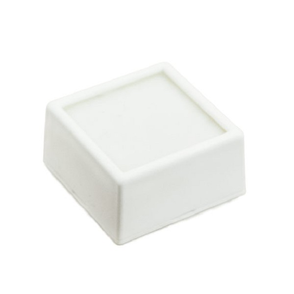 "Glass Top White Gem Jar 1-1/2"" Square"