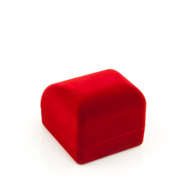 Small Earring Box Red Flocked