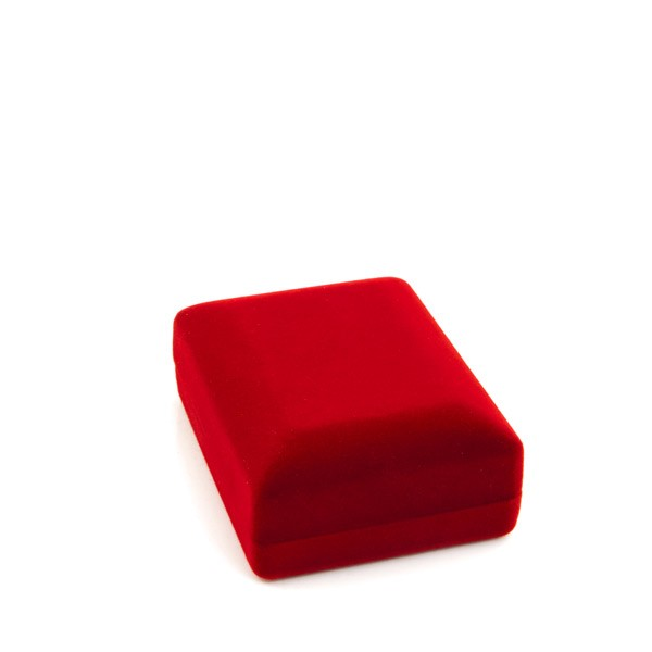 Pendant or Earring Box Red Flocked
