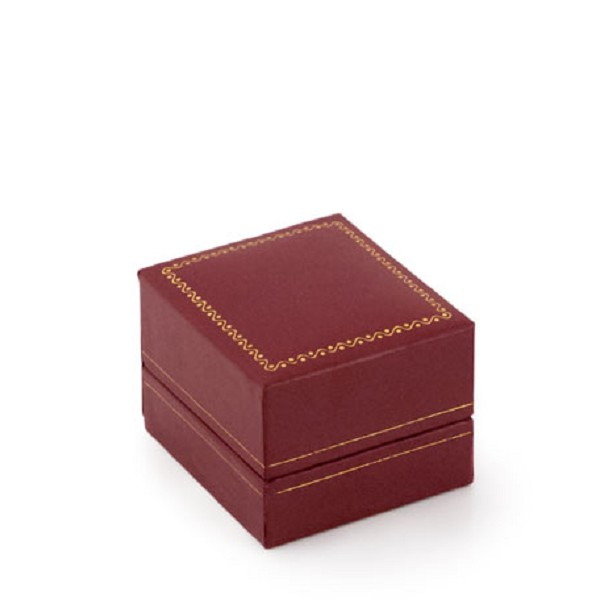 Cartier Style Stud Earring Box Red Leatherette