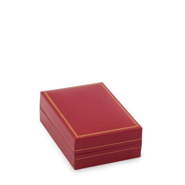 Cartier Style Large Pendant Box Red Leatherette