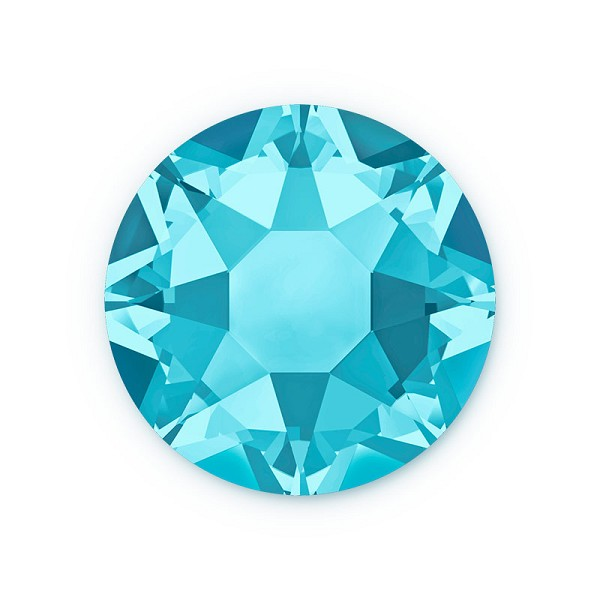 Swarovski 2078 3mm (SS12) Aquamarine Hotfix Flat Back (10-Pcs)