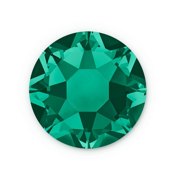 Swarovski 2078 4mm (SS16) Emerald Hotfix Flat Back (10-Pcs)