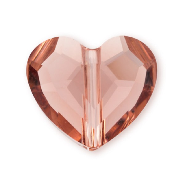 Swarovski Crystal Love Bead 5741 8mm Blush Rose (1-Pc)