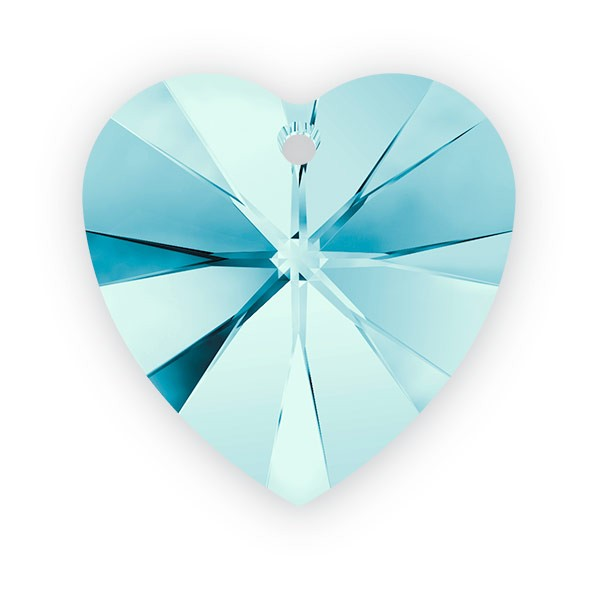 Swarovski crystal heart pendant 6228 14mm aquamarine how to make a swarovski crystal heart pendant 6228 14mm aquamarine aloadofball Gallery