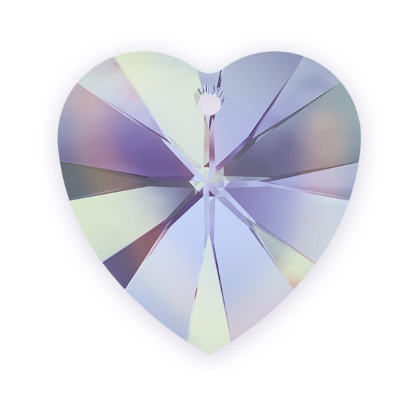 Swarovski Heart Pendant 6228 10mm Crystal Vitrail Light (1-Pc)