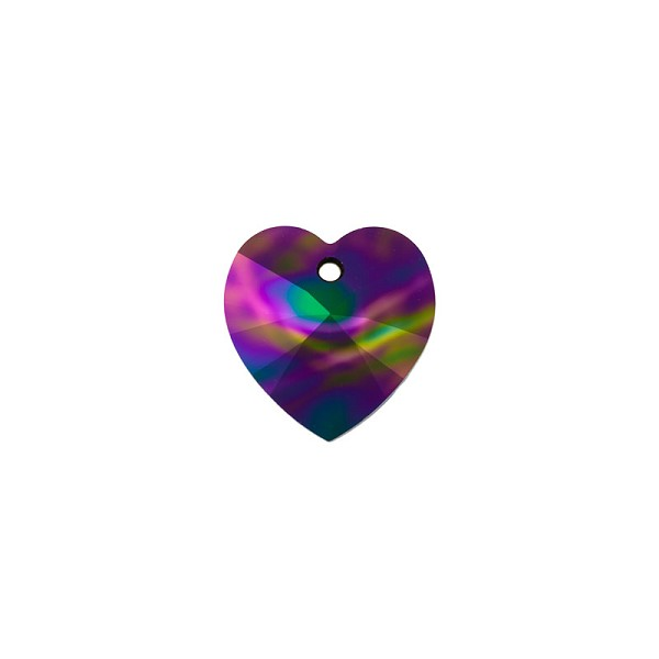 Swarovski Heart Crystal Pendant 6228 18mm Crystal Rainbow Dark (1-Pc)