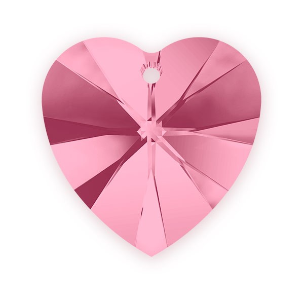 Swarovski Crystal Heart Pendant 6228 10mm Light Rose (1-Pc)