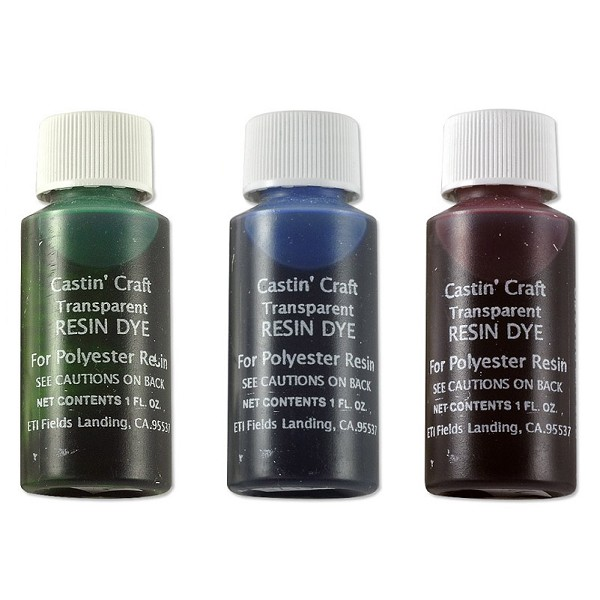 castin 39 craft red green blue transparent resin dye
