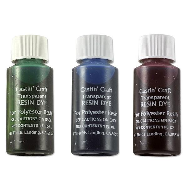 Castin 39 craft red green blue transparent resin dye for Castin craft resin dye