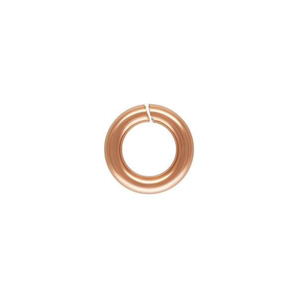 4mm Copper Round Open Twist Lock Jump Ring (2-Pcs)