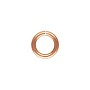 5.8mm Copper Round Open Twist Lock Jump Ring (2-Pcs)