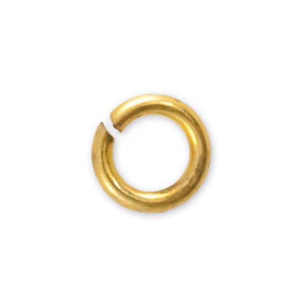 3.5mm Gold Color Round Open Jump Ring (100-Pcs)