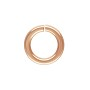 5.8mm Rose Gold Filled Round Open Twist Lock Jump Ring (1-Pc)