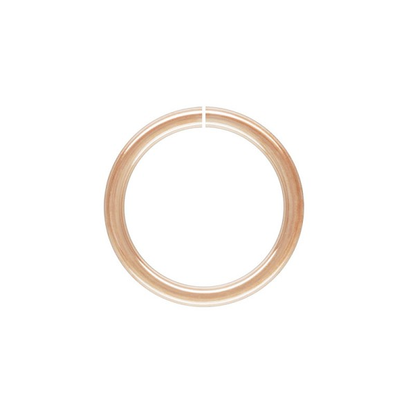 6mm Rose Gold Filled Round Open Jump Ring (2-Pcs)