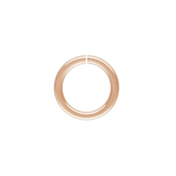 4.5mm Rose Gold Filled Round Open Jump Ring (2-Pcs)