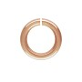 10mm Rose Gold Filled Round Open Twist Lock Jump Ring (1-Pc)