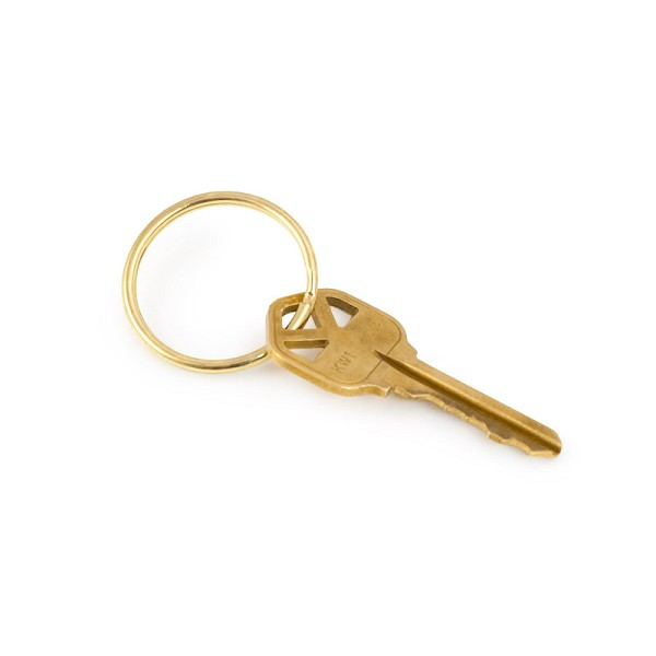 Top Quality Key Ring 32mm Split Ring Gold Color (10-Pcs)