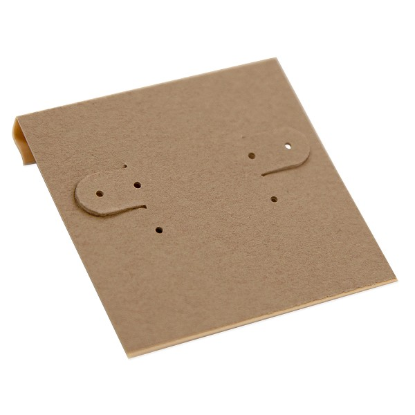 Hanging Earring Card - Kraft Paper-Covered Plastic 2x2 (100-Pcs)