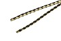 Metallic Gold/Black Braided Leatherette Bolo Cord (1 Yard)