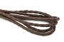 Brown Leatherette Braided Bolo Cord (1 Yard)