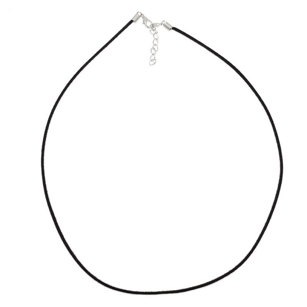 "20"" Black Faux Suede Necklace (1-Pc)"