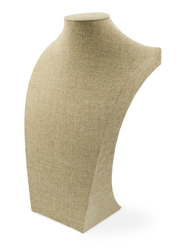 "Burlap Neckform Display 18"" Tall"