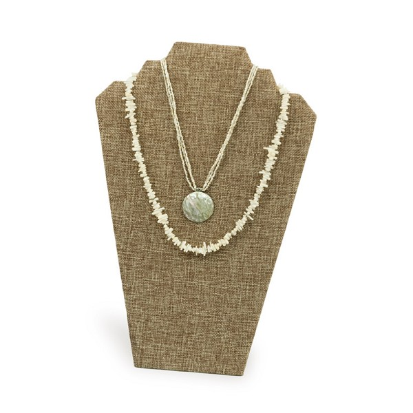 Burlap Necklace Display Stand (2-Necklace Stand)