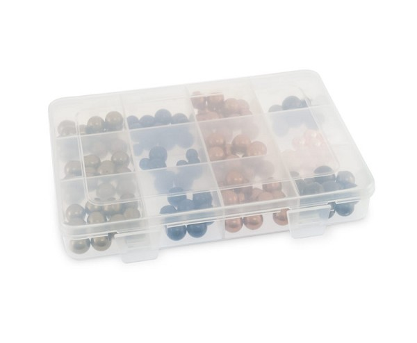 12 Compartment Clear Plastic Rectangular Jewelry Organizer