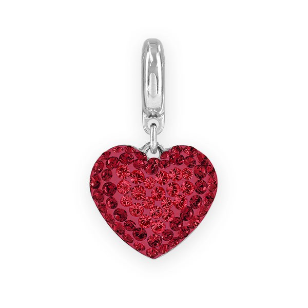 Swarovski Hand Made Pave Heart Charm 14mm Light Siam 4481fd66b28c