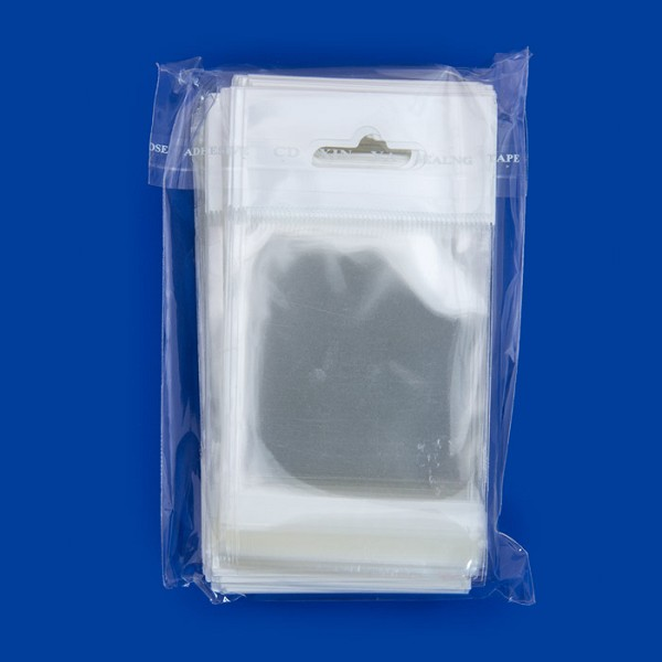 "Resealable Polypropylene Bags with Hanging Header 2x2"" (100-Pcs)"