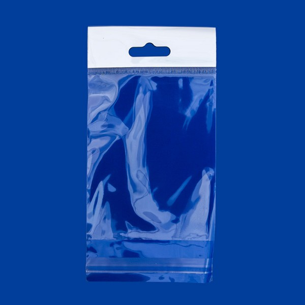 "Resealable Polypropylene Bags with Hanging Header 3x4"" (100-Pcs)"