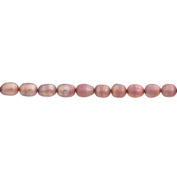 "Freshwater Rice Pearls Rose 7-8mm (16"" Strand)"