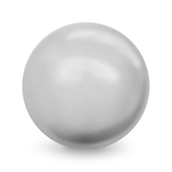 Swarovski 5810 6mm Light Grey Round Crystal Pearl (10-Pcs)