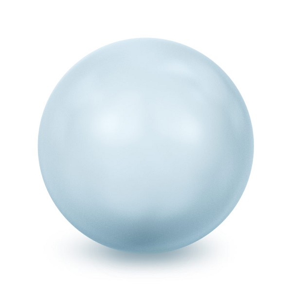 Swarovski 5810 10mm Light Blue Round Crystal Pearl (50-Pcs)