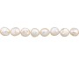 "Freshwater Coin Pearls Light Peach 11-12mm (16"" Strand)"