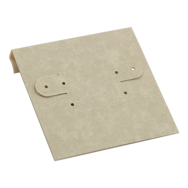 Hanging Earring Card - Cream Parchment Paper-Covered Plastic 2x2 (100-Pcs)