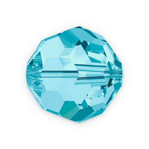 Swarovski Crystal 5000 8mm Aquamarine Round Bead (1-Pc)